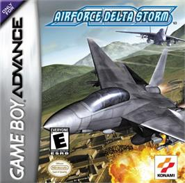 Box cover for Air Force Delta Storm on the Nintendo Game Boy Advance.