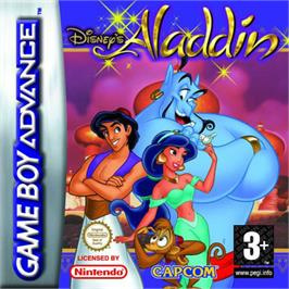 Box cover for Aladdin on the Nintendo Game Boy Advance.