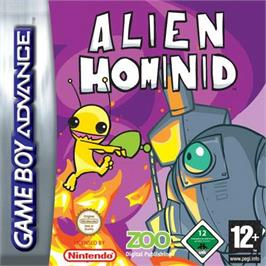 Box cover for Alien Hominid on the Nintendo Game Boy Advance.
