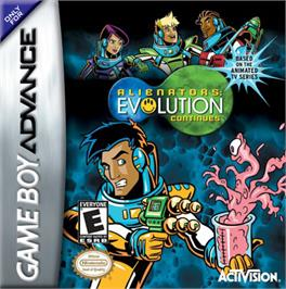 Box cover for Alienators: Evolution Continues on the Nintendo Game Boy Advance.