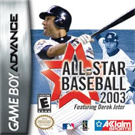 Box cover for All-Star Baseball 2003 on the Nintendo Game Boy Advance.