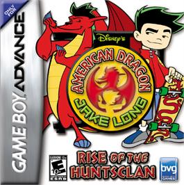 Box cover for American Dragon: Jake Long - Rise of the Huntsclan on the Nintendo Game Boy Advance.