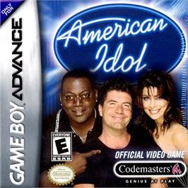 Box cover for American Idol on the Nintendo Game Boy Advance.