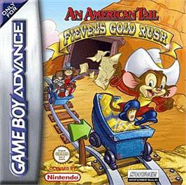 Box cover for An American Tail: Fievel's Gold Rush on the Nintendo Game Boy Advance.