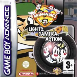 Box cover for Animaniacs: Lights, Camera, Action on the Nintendo Game Boy Advance.