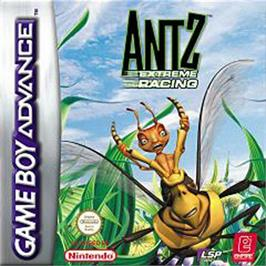 Box cover for Antz Extreme Racing on the Nintendo Game Boy Advance.