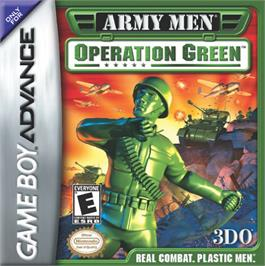 Box cover for Army Men: Operation Green on the Nintendo Game Boy Advance.