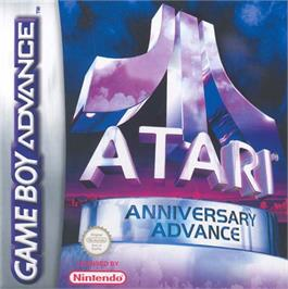 Box cover for Atari Anniversary Advance on the Nintendo Game Boy Advance.