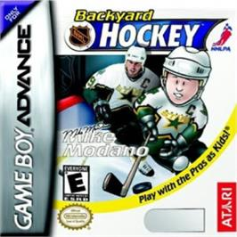 Box cover for Backyard Hockey on the Nintendo Game Boy Advance.