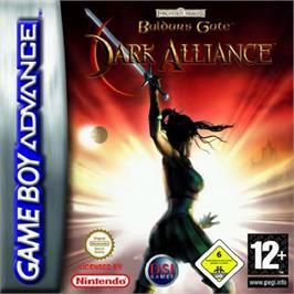 Box cover for Baldur's Gate: Dark Alliance on the Nintendo Game Boy Advance.
