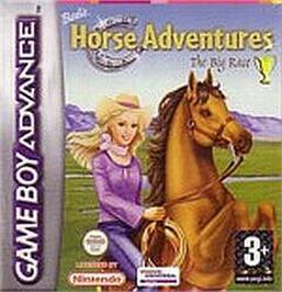 Box cover for Barbie Horse Adventures: Blue Ribbon Race on the Nintendo Game Boy Advance.