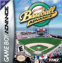 Box cover for Baseball Advance on the Nintendo Game Boy Advance.