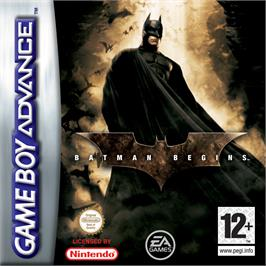 Box cover for Batman Begins on the Nintendo Game Boy Advance.