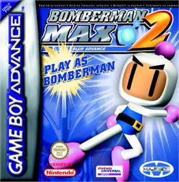 Box cover for Bomberman Max 2: Blue Advance on the Nintendo Game Boy Advance.