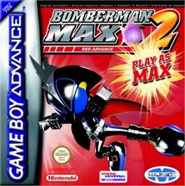 Box cover for Bomberman Max 2: Red Advance on the Nintendo Game Boy Advance.