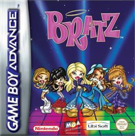 Box cover for Bratz on the Nintendo Game Boy Advance.