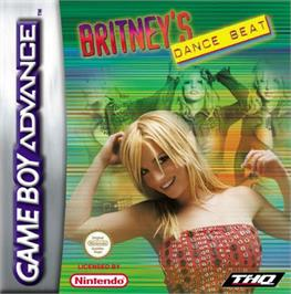 Box cover for Britney's Dance Beat on the Nintendo Game Boy Advance.