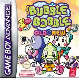 Box cover for Bubble Bobble Old & New on the Nintendo Game Boy Advance.