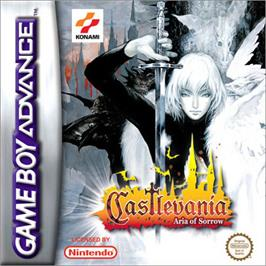 Box cover for Castlevania: Aria of Sorrow on the Nintendo Game Boy Advance.