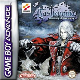 Box cover for Castlevania: Harmony of Dissonance on the Nintendo Game Boy Advance.
