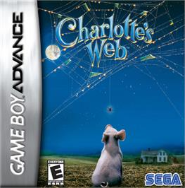 Box cover for Charlotte's Web on the Nintendo Game Boy Advance.