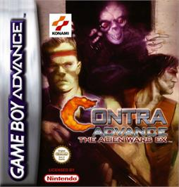 Box cover for Contra Advance: The Alien Wars EX on the Nintendo Game Boy Advance.