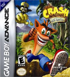 Box cover for Crash Bandicoot: The Huge Adventure on the Nintendo Game Boy Advance.