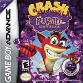 Box cover for Crash Bandicoot Purple: Ripto's Rampage on the Nintendo Game Boy Advance.