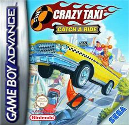 Box cover for Crazy Taxi: Catch a Ride on the Nintendo Game Boy Advance.