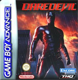 Box cover for Daredevil on the Nintendo Game Boy Advance.