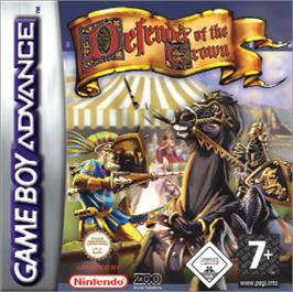 Box cover for Defender of the Crown on the Nintendo Game Boy Advance.