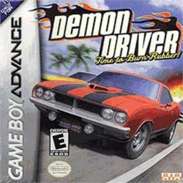 Box cover for Demon Driver: Time to Burn Rubber on the Nintendo Game Boy Advance.