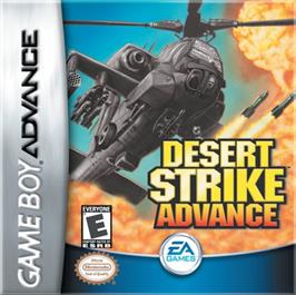 Box cover for Desert Strike: Return to the Gulf on the Nintendo Game Boy Advance.