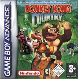 Box cover for Donkey Kong Country on the Nintendo Game Boy Advance.