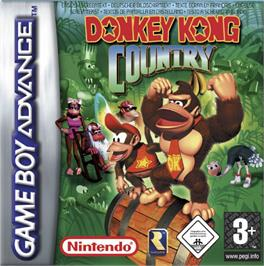 Box cover for Donkey Kong Junior on the Nintendo Game Boy Advance.