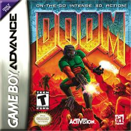 Box cover for Doom on the Nintendo Game Boy Advance.