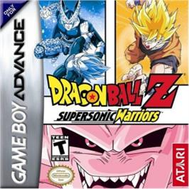 Box cover for Dragonball Z: Supersonic Warriors on the Nintendo Game Boy Advance.