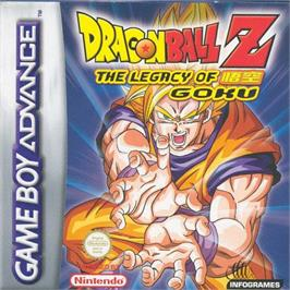 Box cover for Dragonball Z: The Legacy of Goku on the Nintendo Game Boy Advance.