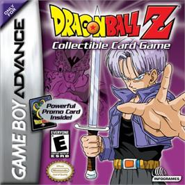 Box cover for Dragonball Z Collectible Card Game on the Nintendo Game Boy Advance.