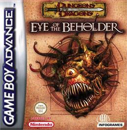 Box cover for Dungeons & Dragons: Eye of the Beholder on the Nintendo Game Boy Advance.