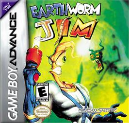 Box cover for Earthworm Jim on the Nintendo Game Boy Advance.