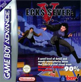 Box cover for Ecks vs. Sever on the Nintendo Game Boy Advance.