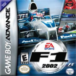 Box cover for F1 2002 on the Nintendo Game Boy Advance.