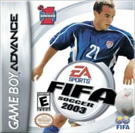 Box cover for FIFA 2003 on the Nintendo Game Boy Advance.