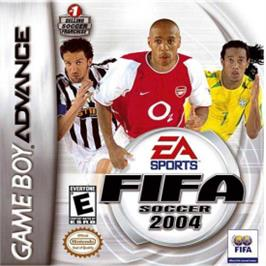 Box cover for FIFA 2004 on the Nintendo Game Boy Advance.