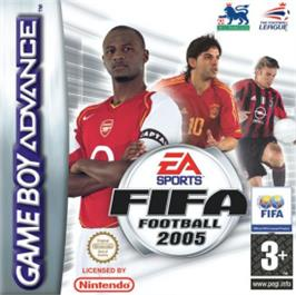 Box cover for FIFA 2005 on the Nintendo Game Boy Advance.