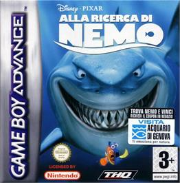 Box cover for Finding Nemo on the Nintendo Game Boy Advance.