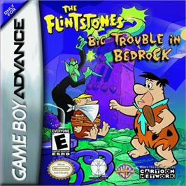 Box cover for Flintstones: Big Trouble in Bedrock on the Nintendo Game Boy Advance.
