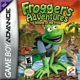 Box cover for Frogger's Adventures: Temple of the Frog on the Nintendo Game Boy Advance.