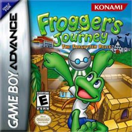 Box cover for Frogger's Journey: The Forgotten Relic on the Nintendo Game Boy Advance.